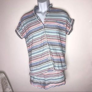 Cuddl Duds 2PC PJ Set Stripes Medium